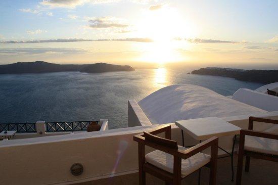 Afroessa Hotel: Las vistas desde nuestra terraza