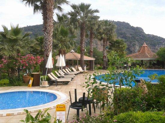 Dalyan Resort : uitzicht vanaf terrasje