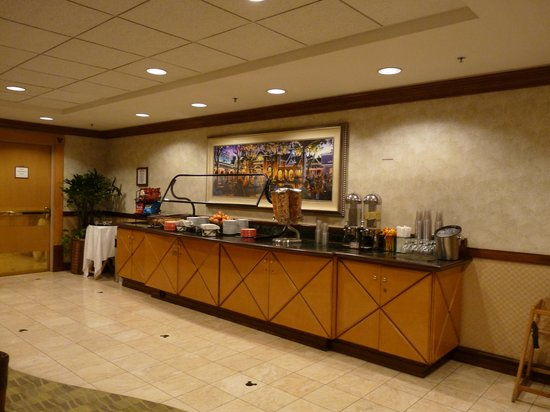 Disney's Paradise Pier Hotel : Le lounge du Concierge Level - côté buffet