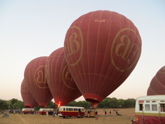 Balloons over Bagan: prepare to launch