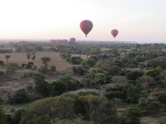 Balloons over Bagan: lift off