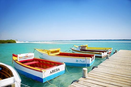 Aruba: Located 15 miles north of Venezuela in the warm waters of the southern Caribbean
