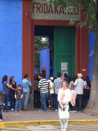 Musée Frida Kahlo : Entrada a la CASA AZUL casa museo de Frida Kahlo