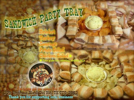 Hot Pit Bar B Q : Sandwich Tray