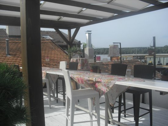 Saran: upper floor terrace in the restaurant ,nice for summer evening drink
