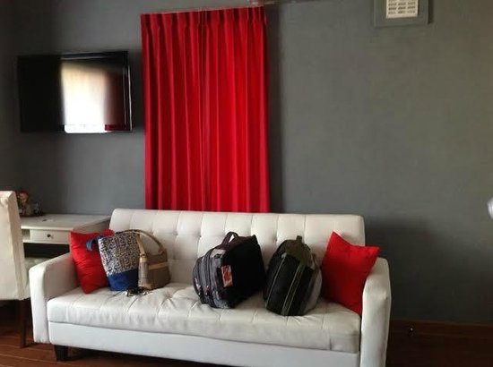 Alex Rooms: A not so comfy sofa in the room