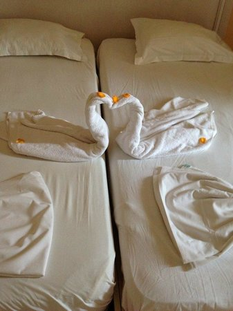 Marhaba Club Hotel: Swans from the maids