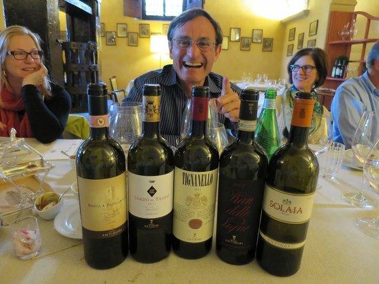 Osteria di Passignano: Unbelievable wine tasting lunch.