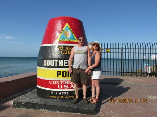 Southernmost Point: Go early in the morning or stand in long lines