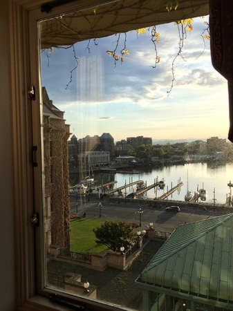 The Fairmont Empress: From elevator hall window