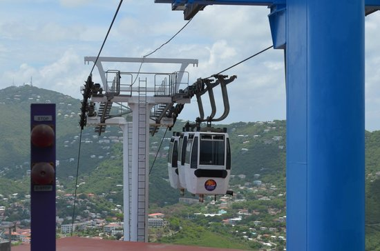 Skyride to Paradise Point: Going up the Paradise Point Tramway St. Thomas, US Virgin Islands