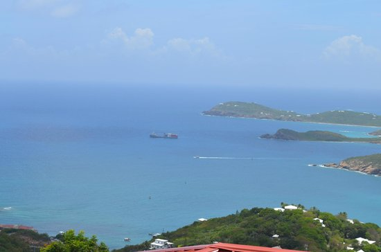 Skyride to Paradise Point: A view from the top of Paradise Point St. Thomas, US Virgin Islands