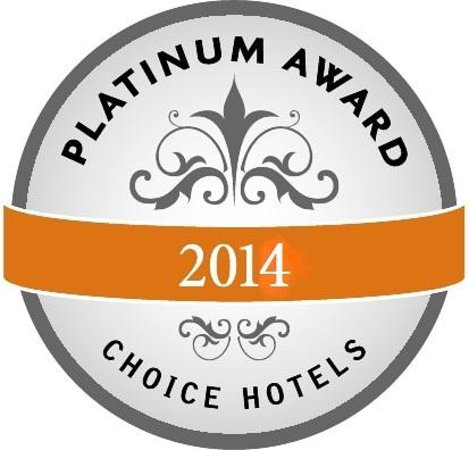 Quality Suites Lake Buena Vista: 2014 Choice Hotels Plutinum award