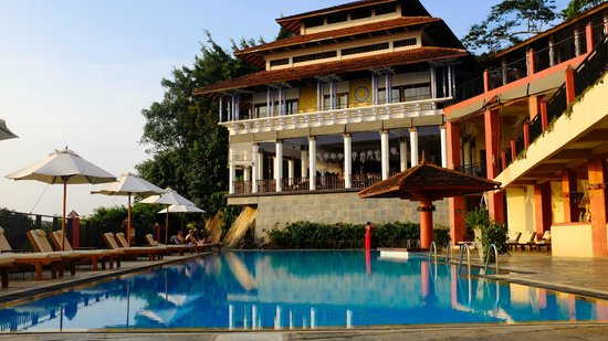 Amaya Hills: From pool up to reception area