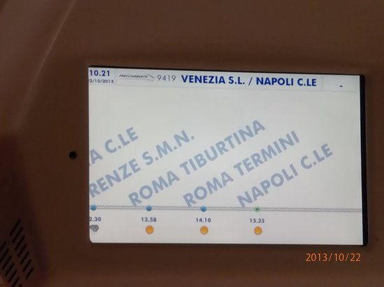 BEST WESTERN Hotel Airvenice : Destination Screen inside the Frecciargento