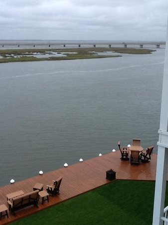 Hampton Inn and Suites Chincoteague-Waterfront : view from our room's balcony.