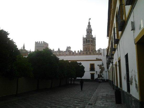 Barrio Santa Cruz : La Giralda vista desde el Barrio de Santa Cruz.