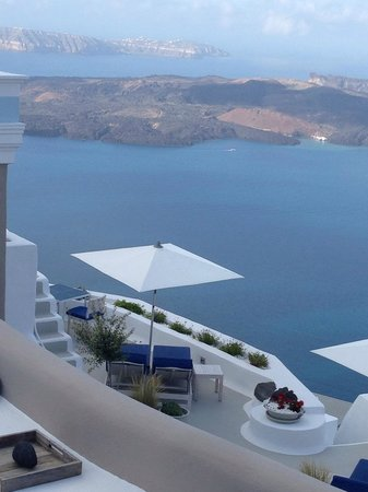 Iconic Santorini, a boutique cave hotel: Hotel Grounds and the Sea