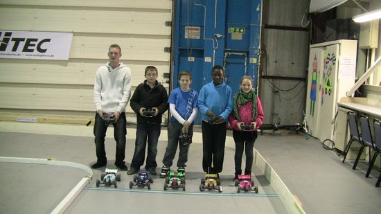 Fareham Models and Race Track: Rent a car to drive  on our indoor track