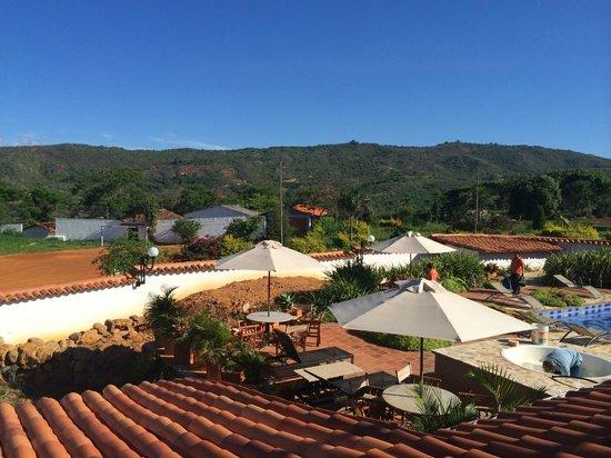 Hotel Boutique Spa Terra Barichara: Vista desde el Gimnasio