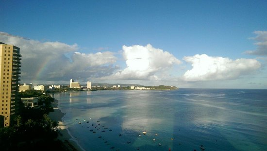 Guam Reef & Olive Spa Resort: Taking the picture from 7 floor