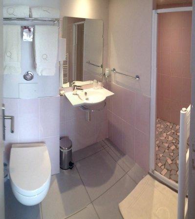 Hotel Ours Blanc Wilson: Salle de bain - Chambre 44