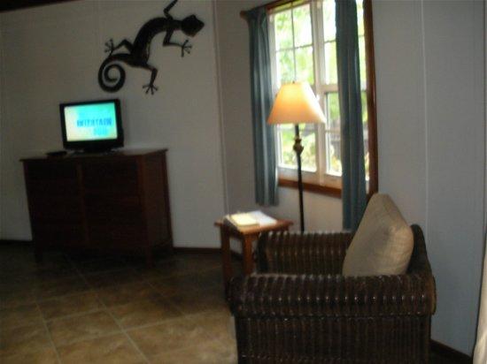 Cocotal Inn & Cabanas: flat TV & Living Room area