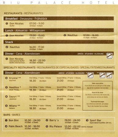 Hotel Riu Palace Aruba : Riu Palace Restaurants