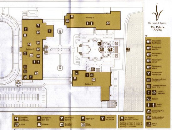 Hotel Riu Palace Aruba Map