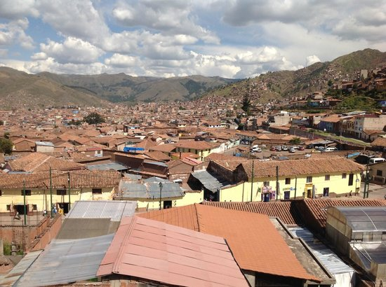 Cusco Packers Hostel: City View from Room 502