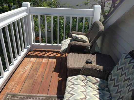 Key West Harbor Inn: Private Deck
