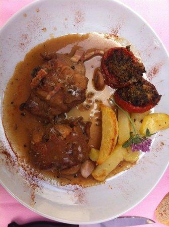 Auberge Aux Petits Paves: Râbles de Lapin sauce Moutarde
