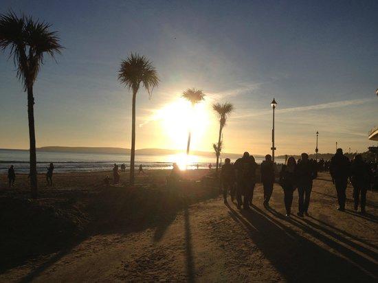 Bournemouth Beach: Sunset