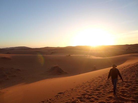 Merzouga Desert: Sunrise in the sand dune