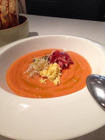 Restaurante Fornello : SALMOREJO con virutas de jamon