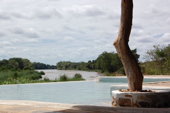 Kiboko Camp: The Swimming Pool overlooking the River