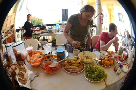 Hostal Zócalo: riko desayuno
