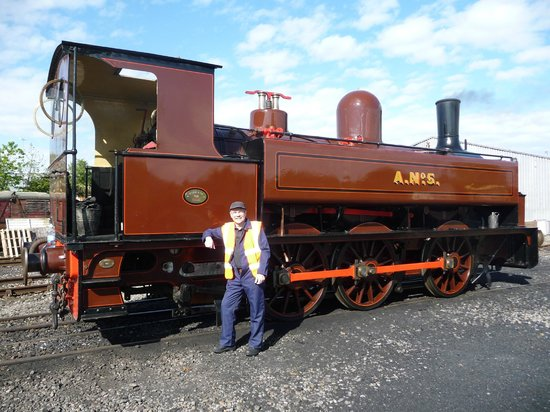 Stephenson Railway Museum: My steam engine for the day - An 0-6-0 side tank built in 1883 by Kitson and Co.