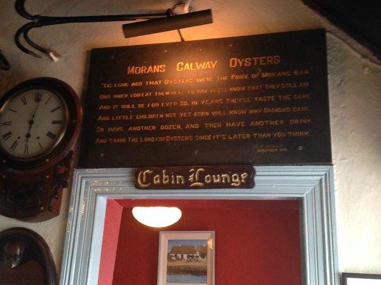 Morans Oyster Cottage : Moran's Cabin Lounge