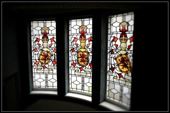 The Balmoral Hotel: Stain glass windows illuminate the stairways