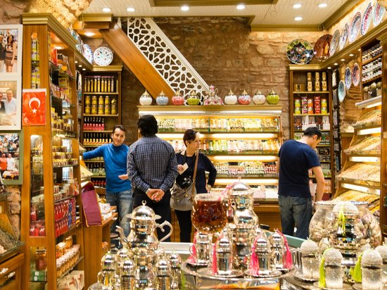 Turkey Tours by Local Guides : At the Spice Market buyingTurkish Delight