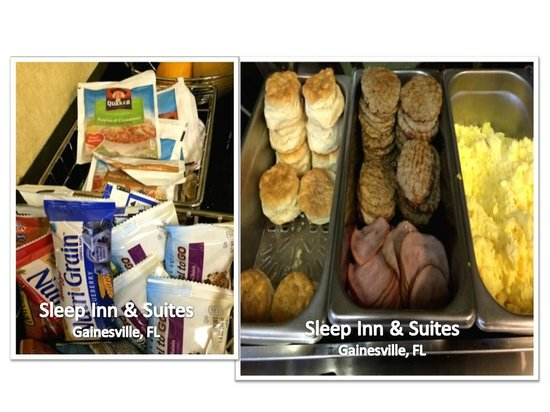 Sleep Inn & Suites University/Shands: INCLUDED:  Breakfast  (and Later Cookies and Popcorn)