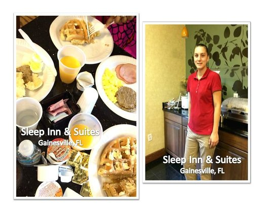 Sleep Inn & Suites University/Shands: Demetrious & Donna (pictured) GREAT Breakfast Service