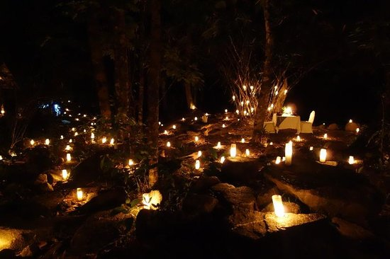 The Sarojin: Waterfall Dinner -- Candles