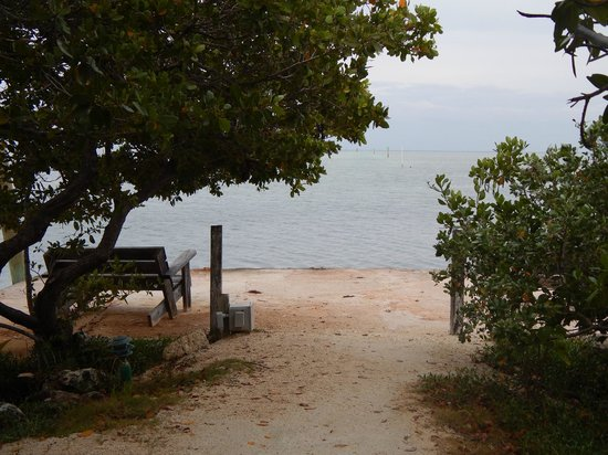 Coconut Cove Resort and Marina : End of the path next to the marina.