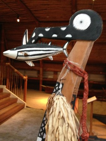 Voyager New Zealand Maritime Museum : fishing canoe from Solomon Islands