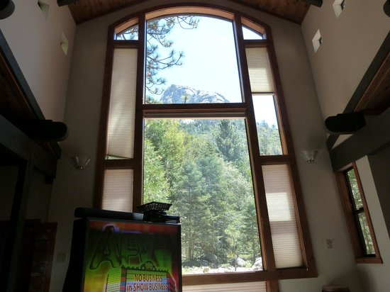 Woodland Park Manor: View of Tahquitz Rock from inside