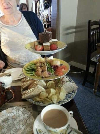 19 Fourteas Tearoom Havant: high tea.