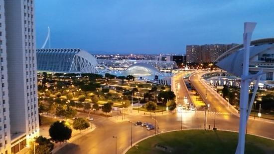 Barcelo Valencia: Vista dal terrazzo della SPA