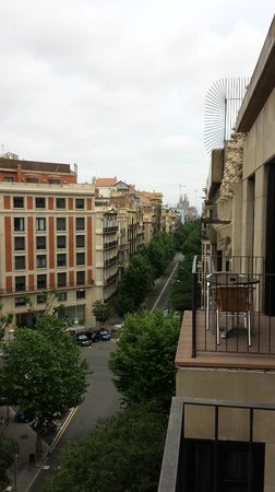 Hotel Balmes: View from terrace.